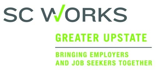 Logo for SC Works of the Greater Upstate.  Tagline says 'Bringing Employers and Job Seekers Together'