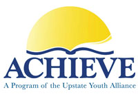 Logo for The ACHIEVE Program.  The tagline says 'A Program of the Upstate Youth Alliance'