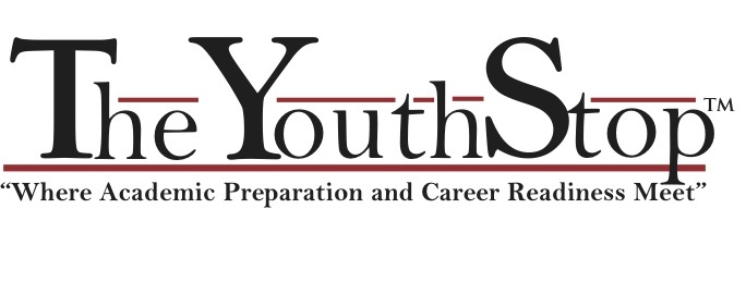 Logo for The Youth Stop.  The tagline says