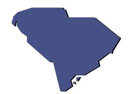 This is a graphic of the outline of South Carolina.